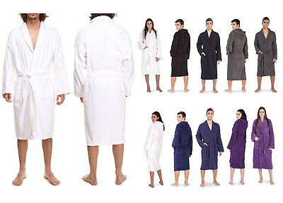 Humorvoll Men Women 100% Egyptian Cotton Terry Towel Bathrobe Dressing Gown -spa Hotel Gym Hochglanzpoliert
