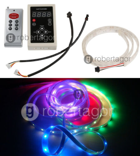 Trousse Bande Strip 120 LED Rvb Programmable Étanche Flexible Télécommande