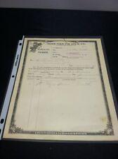 Rare 1919 US Internal Revenue Service Duplicate Order Form for Opium - Heroin