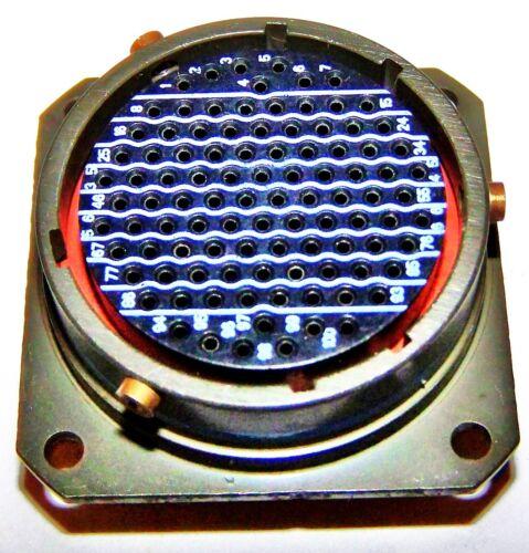 AMPHENOL AIRCRAFT 100 PIN PANEL CONNECTOR KIT GOLD SILVER MS27497E22B355A NEW