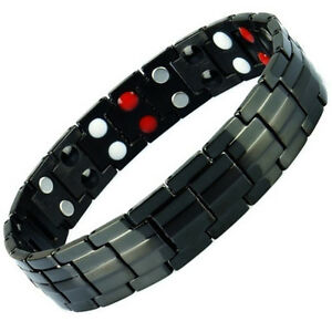 Anion-Magnetic-Energy-Germanium-Power-Bracelet-Health-4in1-Bio-Armband-TITANIUM