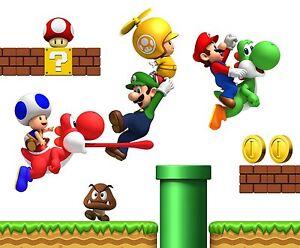 Super-Mario-Vinilo-Pared-Pegatina-Pared-Calcomania
