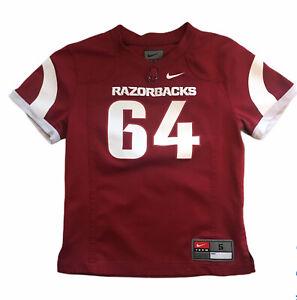 Arkansas-Razorbacks-64-Red-Youth-Football-Jersey-Size-5-EUC