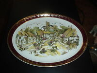 *VINTAGE? WEATHERBY ROYAL FALCON GIFT WARE ENGLAND- GOLD TRIMMED COLLECTOR PLATE