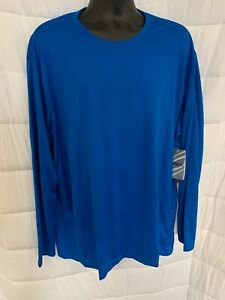 NWT-Asics-Men-039-s-Core-Running-T-Shirt-Blue-Long-Sleeve-2XL-B-5