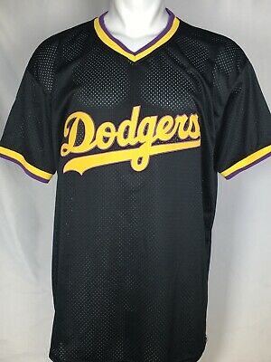 LOS ANGELES DODGERS MLB LAKERS Night SGA Black Jersey Men's XL   eBay