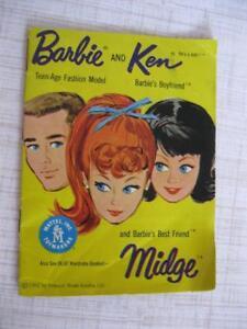 Ken 1962 Barbie Midge Blue Fashion Pamphlet Book Outfits Fashion Clothes