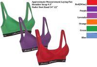 Lingerie Womens Cotton Sports Bra 32b 34b 36b 38b 34c 36c38c Assorted Colors