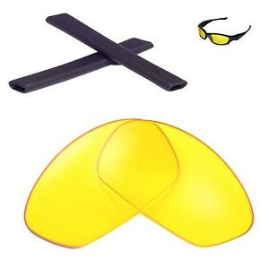 d6bebd226d Walleva Yellow Lenses and Black Rubber Kit For Oakley Straight ...