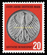 EBS Germany 1958 10th Anniversary of the Deutschmark DM Michel 291 MNH**