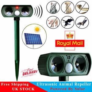 Solar Power Cat Repellent Scarer Deterrent Ultra Sonic Dog Mouse Cat Pest Animal