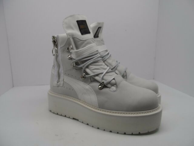 6e6bc7dc401b Puma X Fenty Rihanna Unisex SB Sneaker Boot Puma White Size Womens 9.5    Mens 8