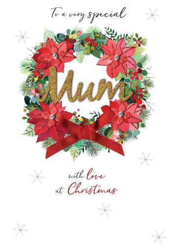 Mamá adornado Magnifique Tarjeta de felicitación de la Navidad Tarjetas De Gran Tamaño