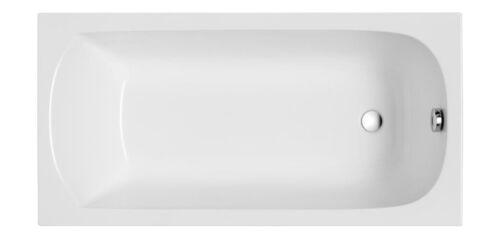 Überlauf Silikon Füße Badewanne Rechteck Wanne Acryl 150 x 70 cm Schürze Ab-