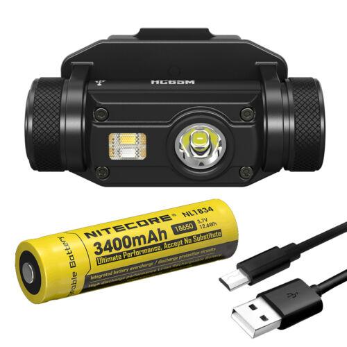 Nitecore HC65M 1000 Lumen USB Rechargeable Headlamp on NVG Mount