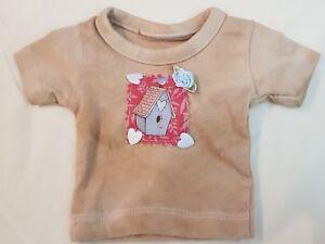 für ca Neu: T-Shirt im shabby-Style 25-32 cm Bären oder Puppe HANDARBEIT