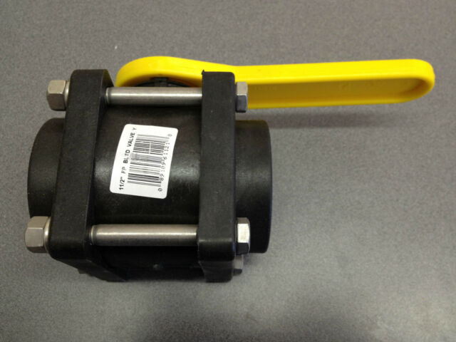 """3/"""" FULL PORT POLY BALL VALVE W// STAINLESS BOLTS NORWESCO P#61124"""