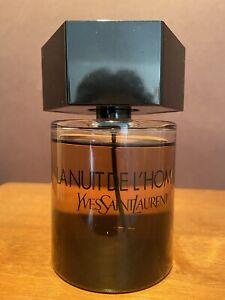 LA NUIT DE L'HOMME by YSL 3.3 Oz / 100 ml EDT Spray, Almost full, year-2013 RARE