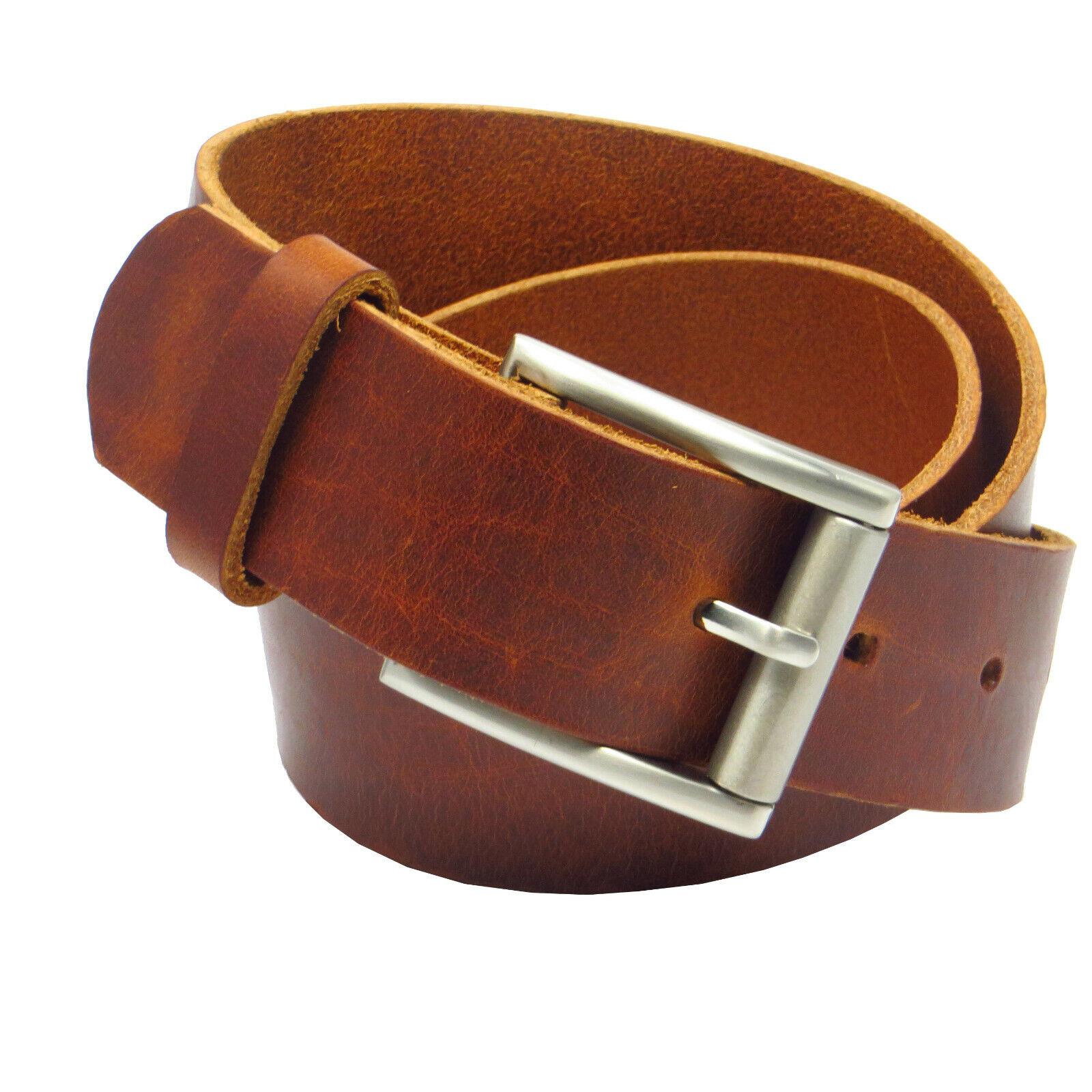 Ledergürtel 4 cm breit cognac aus eigener Fertigung Rindsleder Bundweite messen