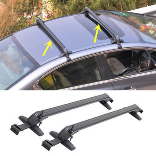 For HONDA FIT JAZZ 2009-15 Upper Cargo Top Roof Rack Cross Bars Luggage Carrier