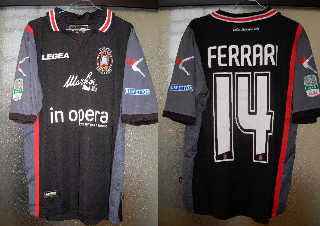 Maglia  shirt lanciano nr 14 ferrari new M vers. match worn legea toppe lextra n  Envío 100% gratuito
