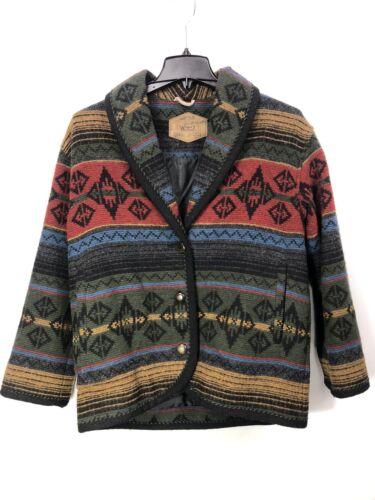Woolrich Woman's Small Jacket Wool Southwestern In
