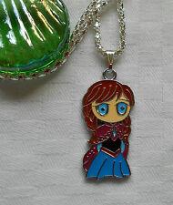 """Frozen necklace Anna Disney silver plated 16"""" kids children boys girls"""