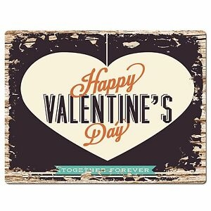 Pp3723 Rustic Happy Valentine S Day Gift Plate Home Cafe Wall Decor