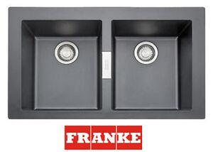 FRANKE SID620 Onyx Einbauspüle Küchenspüle Waschbecken Spüle 2 ...