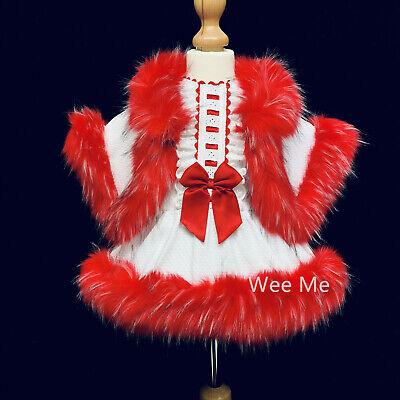 Beautiful Baby Girl Spanish Fur Cape//Faux Fur Trim and Collar//Cozy Winter
