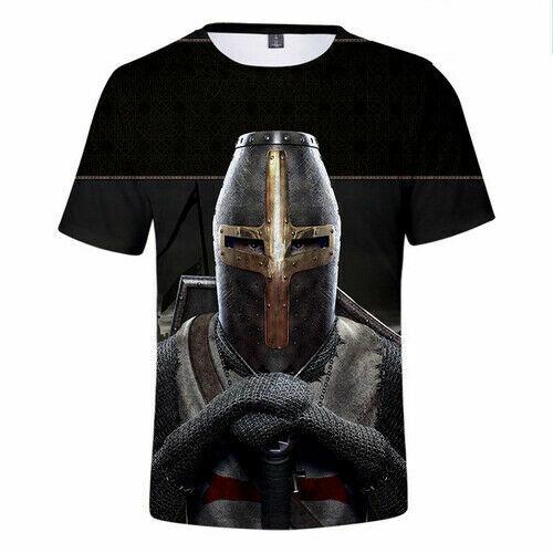 New Knights Templar Casual Women Men T-Shirt 3D Print Short Sleeve Tee Tops