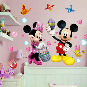 Sweet-Mickey-Mouse-Minnie-Vinyl-Wall-Sticker-Decals-Kids-Nursery-Room-Decor-DIY