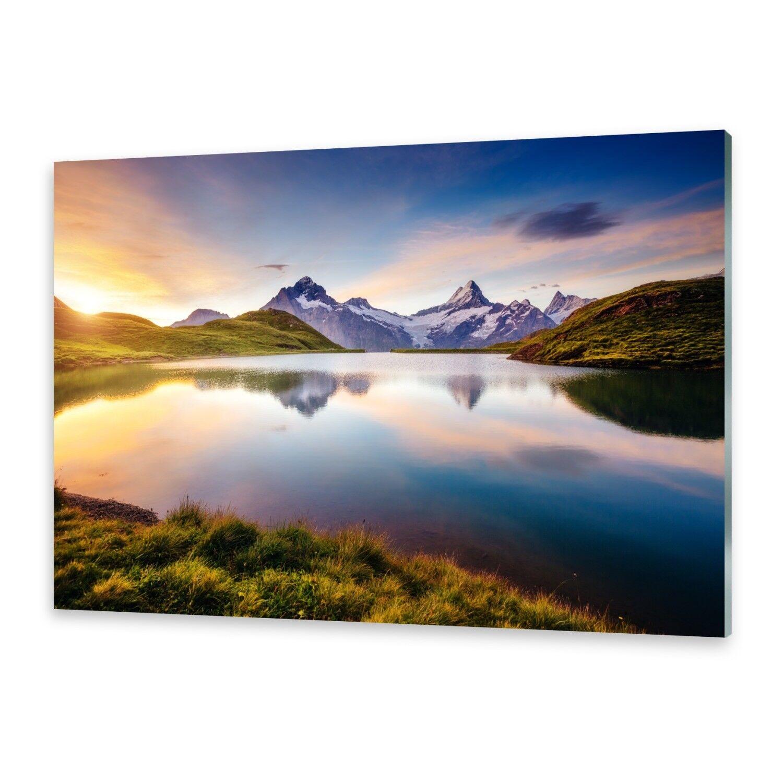 Vetro acrilico immagini Muro Immagine da plexiglas ® immagine LAGO MONTAGNA
