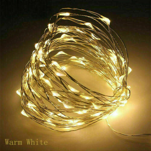 10M 100LEDs AA Battery LED Lights String Fairy Copper Wire Outdoor Home Decor ED