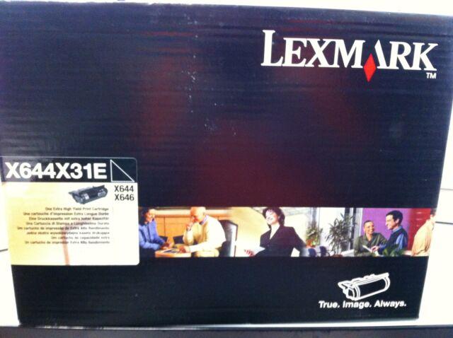 original Lexmark X644X31E X644X11E Toner   X644 X646 SCHWARZ neu B