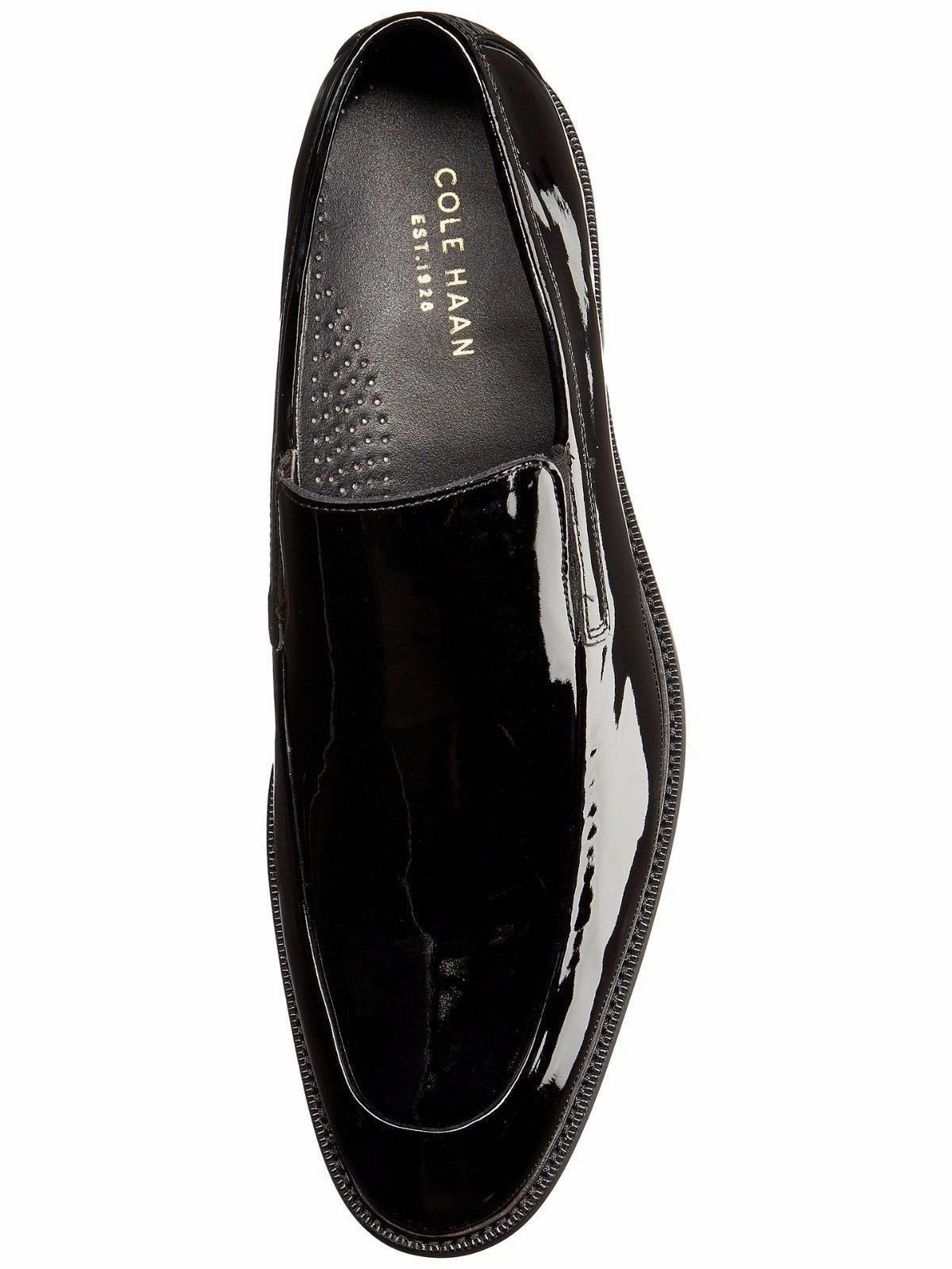 Cole Haan Men's Warren Tuxedo Venetian Tuxedo Warren Dress Shoess Black Patent 9 NEW IN BOX cb54df