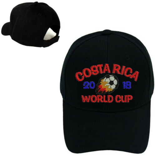 NEW FIFA WORLD CUP 2018 COSTA RICA BASEBALL CAP BLACK ADJUSTABLE