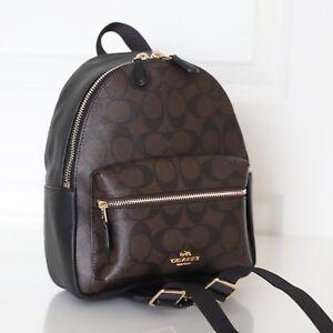 49b30ca16 ... spain image is loading nwt coach f58315 mini charlie signature backpack  bag 757ee b2800 ...