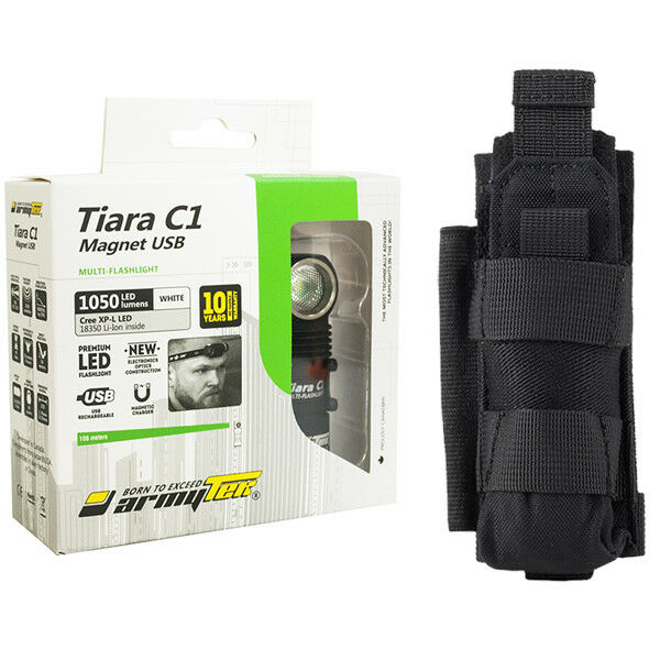 Armytek Tiara C1 Pro v3 Rechargeable Headlamp -Battery Included w NCP30 Holster