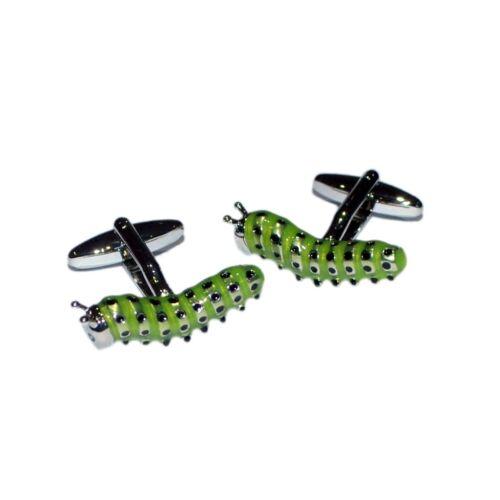 Plateado Y Verde Caterpillar De Insectos Bug Gemelos Con Bolsa De Regalo Mariposa Sol