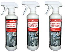 Lot de 3 500ml nettoyant entretien d'acier inoxydable nettoyeur détergent