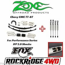 "ZONE 4"" 77-87 Chevy GMC 1500 Suspension Lift Kit w/ Fox Performance Shocks Truck"