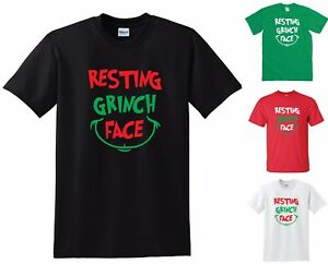 dfdd597dfa3f3 Details about RESTING GRINCH FACE T-SHIRT - FUNNY JOKE BAH HUMBUG MENS  WOMENS Christmas