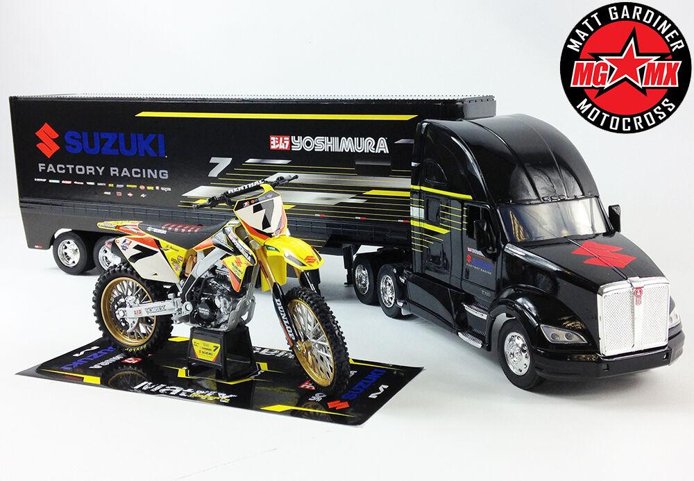 James Stewart Yoshimura eau Set SUZUKI RMZ450 Motocross   1 32 Camion Course