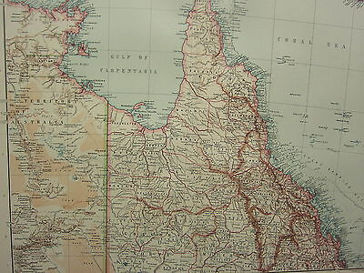 Map Of North East Australia.1907 Dated Map North East Australia Cape York Peninsula Cook North Kennedy Ebay