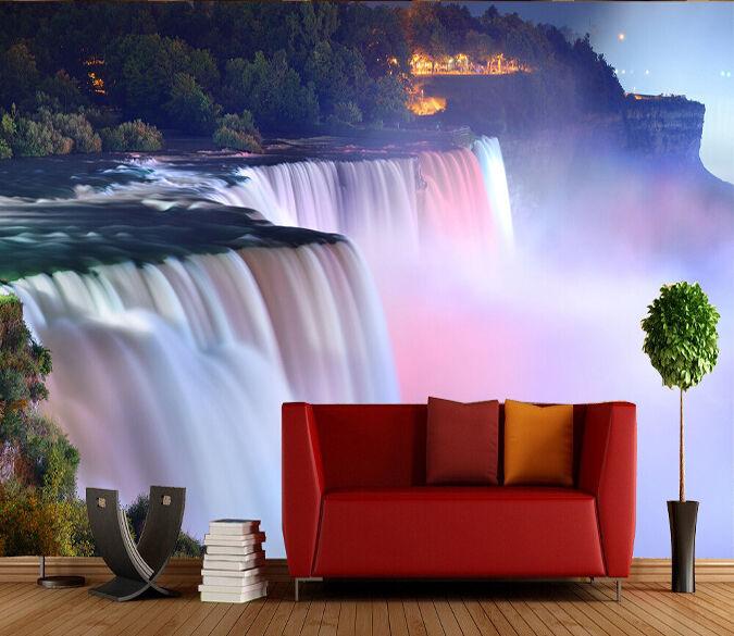 3D Der wasserfall - spektakel Fototapeten Wandbild Fototapete BildTapete Familie