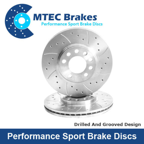 Mercedes C320 CDi C350 05//08-03//10 Drilled /& Grooved Rear Brake Discs T204