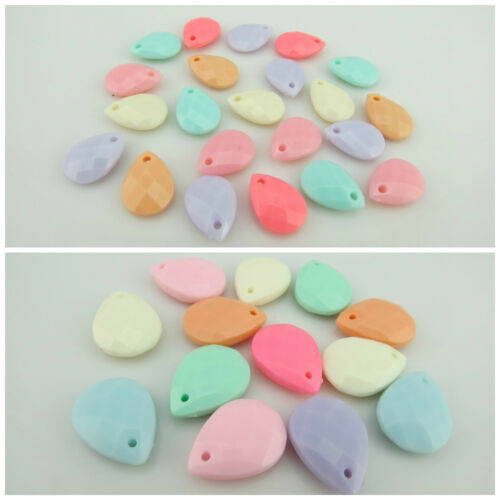 NEW ARRIVAL MIXED COLOUR ACRYLIC TEARDROP-SHAPED PENDANTS FOR JEWELLERY MAKING