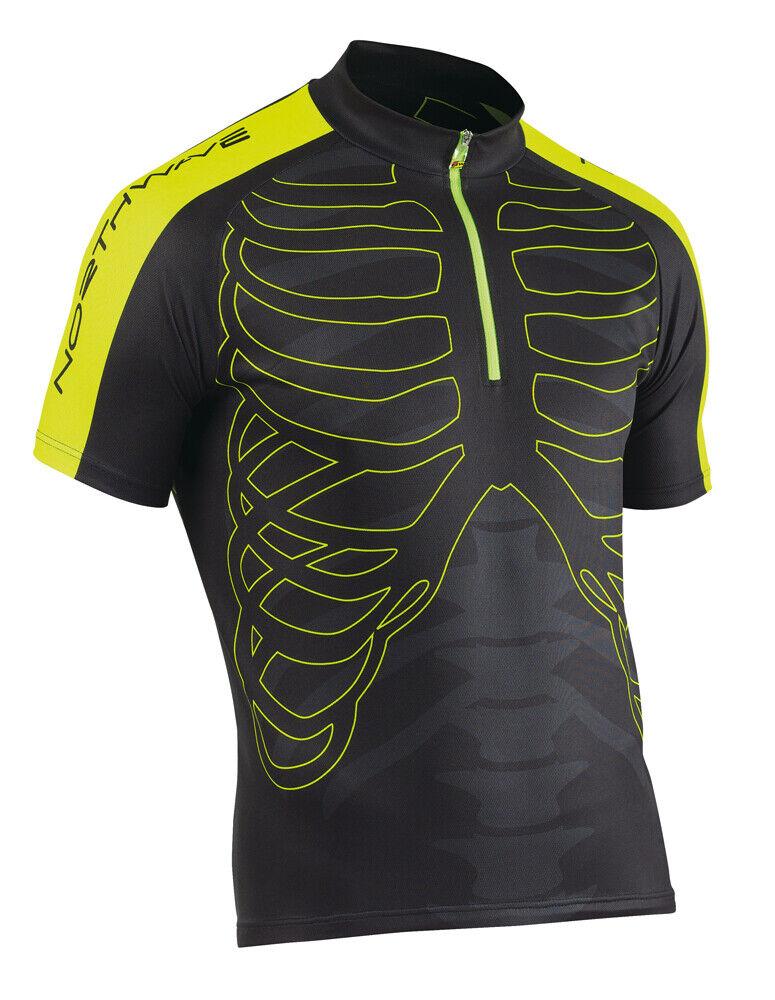 Northwave Skeleton Fahrrad Fahrrad Fahrrad Trikot kurz schwarz gelb 2019 49edcf