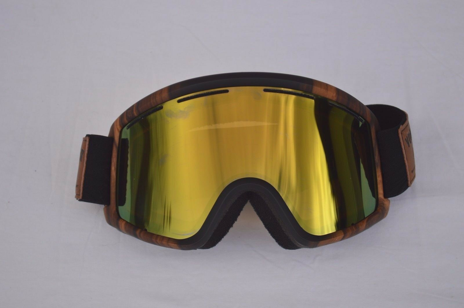 2016 NWOT VONZIPPER MASSIVE WOOD PROJECT  GOGGLES  130 green lenses brown frame  cost-effective